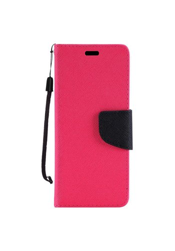 Hybrid PU Leather Flip Cover Case Wallet with Credit Card Slots for Motorola Moto E4