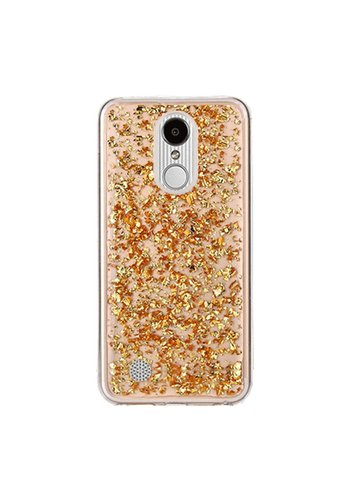 Guardian TPU Gel Case with Metallic Flakes for LG Aristo LV3 - Goldrush