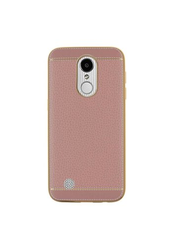 Guardian TPU Leather Fashion Case For LG Aristo LV3 MS210 - Vintage Chrome
