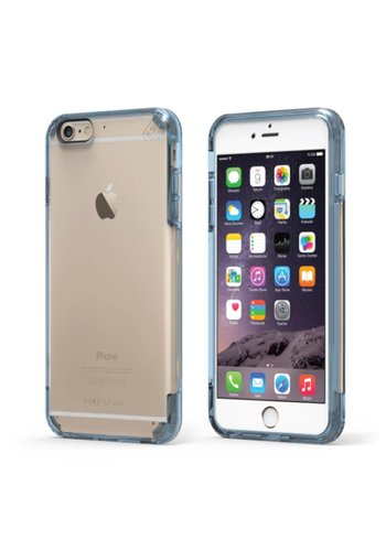 PUREGEAR Slim Shell Pro Clear Case with Colored Edge for iPhone 6/6S Plus
