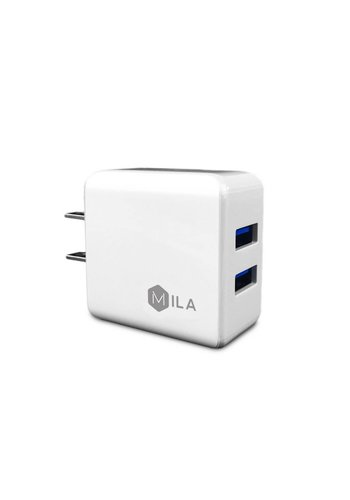 Mila 2.4mAh Dual-USB Home Charger Only
