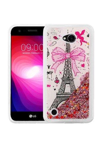 Liquid Quicksand with Glitter Design Hybrid Hard PC TPU Case for LG X Power 2 / Fiesta / LV7 - Paris