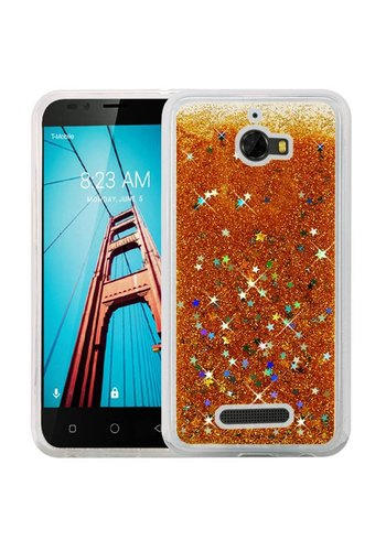 Liquid Quicksand with Glitter Hybrid Hard PC TPU Case for Coolpad Defiant
