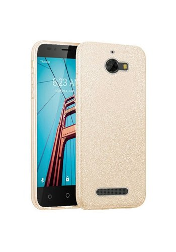 Hybrid Clear PC TPU Case with Glitter Paper For Coolpad Defiant
