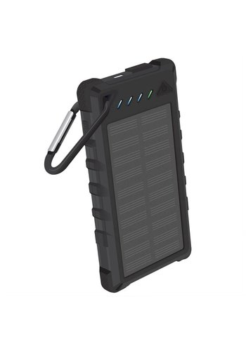 Solar Powered Portable Powerbank with Dual USB and LED Flashlight - 8,000 mAh (BMA8000L)