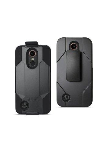 Reiko Hybrid Heavy Duty Holster Clip Case for LG V5 / K20