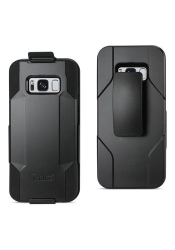 Reiko Hybrid Heavy Duty Holster Clip Case for Galaxy S8 Plus