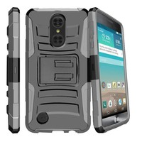 Armor Kickstand Holster Clip Case For LG Aristo LV3 MS210