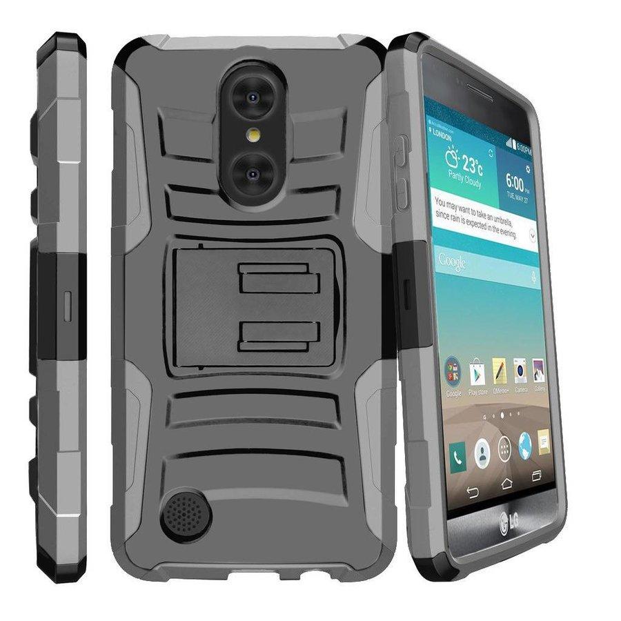 Armor Kickstand Holster Clip Case For LG Aristo LV3 MS210