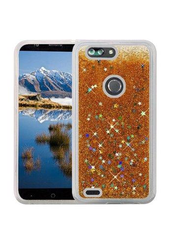 Liquid Quicksand with Glitter Hybrid Hard PC TPU Case for ZTE Sequoia / Blade Z Max / ZTE ZMAX PRO 2