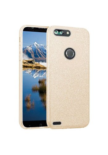 Hybrid Clear PC TPU Case with Glitter Paper For ZTE Sequoia / Blade Z Max / ZTE ZMAX PRO 2