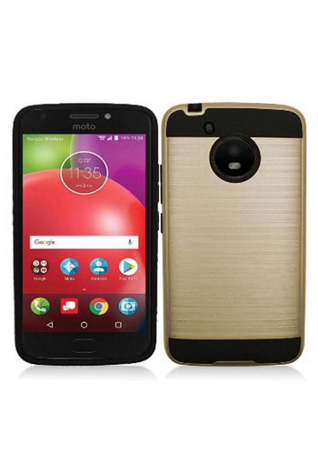 PC+TPU Metallic Brushed Design Case for Motorola Moto E4