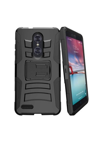 Armor Kickstand Holster Clip Case for ZTE ZMAX Pro