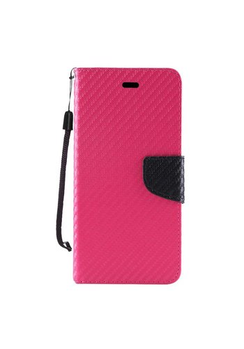 Leather Wallet Case with Carbon Fiber Texture for ZTE ZMAX Pro