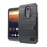 Armor Brushed Case With Card Slot For ZTE MAX XL N9560