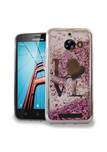 Chrome Glitter Motion Love Case for Coolpad Defiant