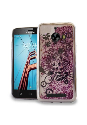 Chrome Glitter Motion Owl Case for Coolpad Defiant
