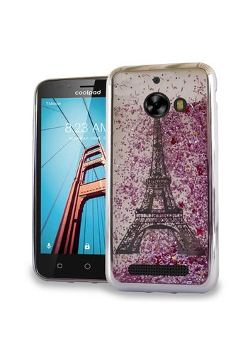 Chrome Glitter Motion Paris Tower Case for Coolpad Defiant