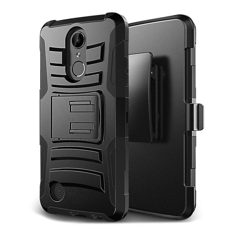 Armor Kickstand Holster Clip Case for LG V5 / K20 Black