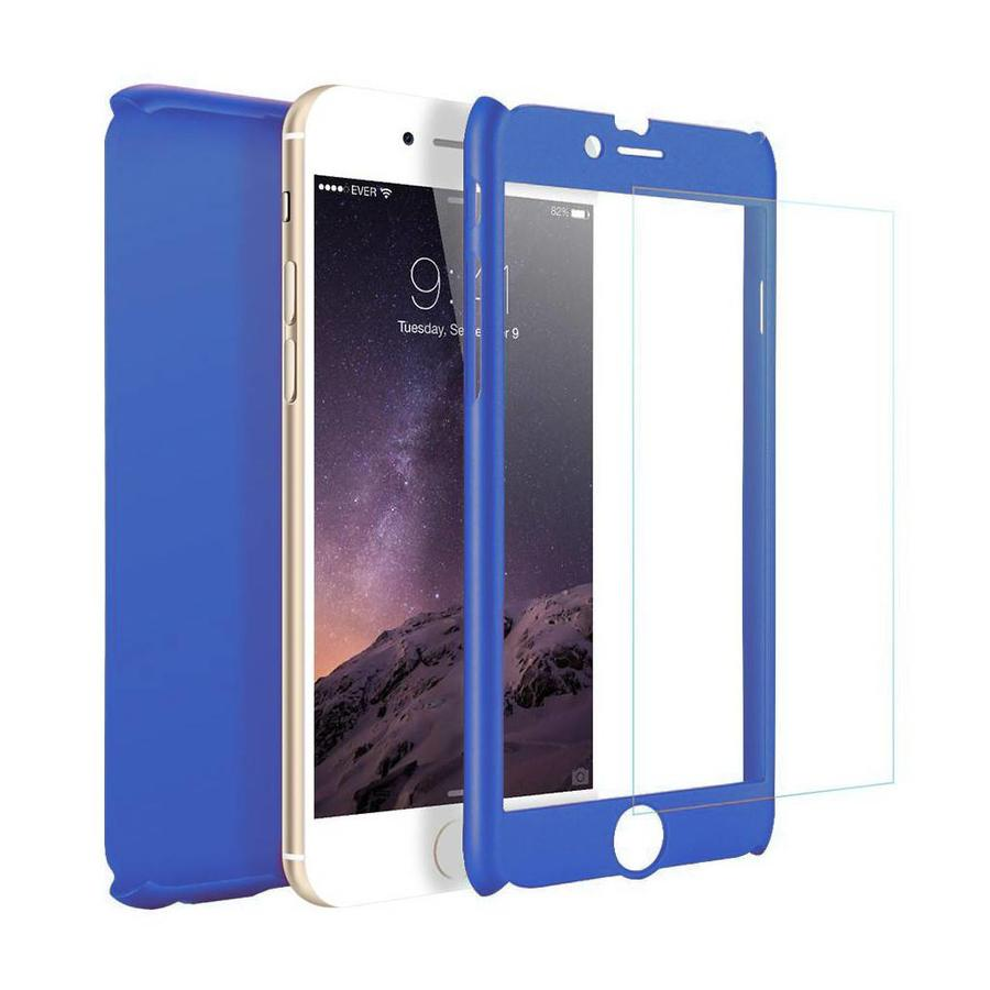 Fashion PC 360 Degree Protective Case with Tempered Glass For iPhone 6/6S Plus