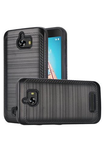 Metallic PC TPU Brushed Case with Carbon Fiber Edge for Coolpad Defiant