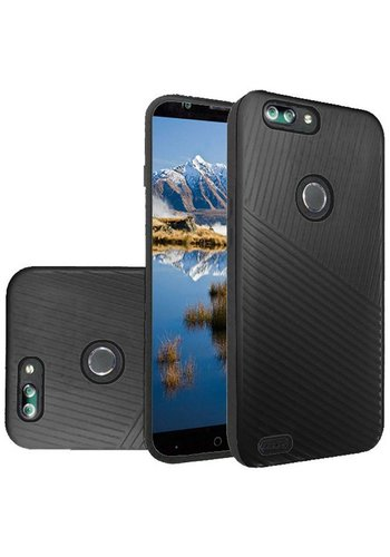 Textured Embossed Lines Hard Plastic PC TPU Case For ZTE Sequoia / Blade Z Max / ZTE ZMAX PRO 2