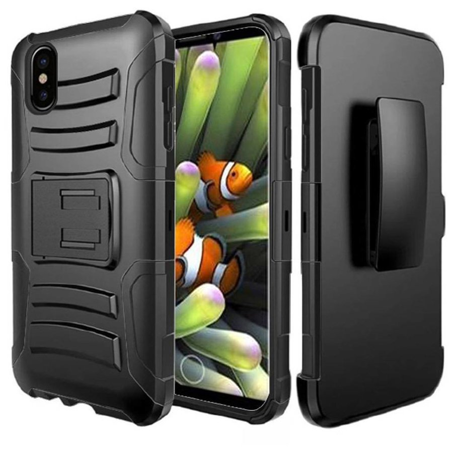 Armor Kickstand Holster Clip Case for iPhone X