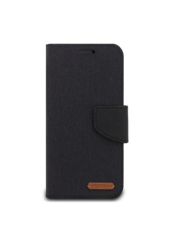 ModeBlu Canvas Wallet Pocket Diary Case for iPhone X