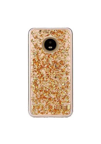 Guardian TPU Gel Case with Metallic Flakes for Motorola Moto E4 - Goldrush