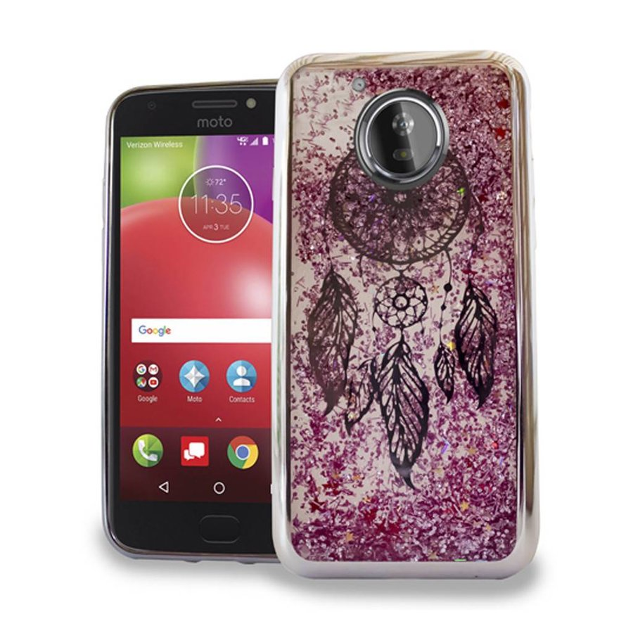 Chrome Glitter Motion Dream Catcher Case for Motorola Moto E4