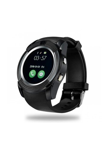 Bluetooth Round Touch Screen SIM GSM TF Card Smart Watch  - V8