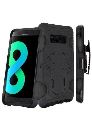SuperCoil Hybrid Premium Kickstand Clip Case for Galaxy S8