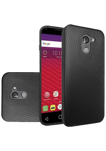 Textured Embossed Lines Hard Plastic PC TPU Case For Alcatel A30 Plus / A30 Fierce 2017 / REVVL / Walters