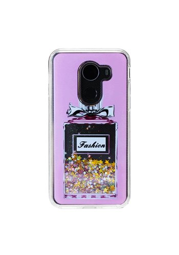 Guardian PC + TPU Liquid Quicksand with Perfume Bottle Case for Alcatel A30 Plus / A30 Fierce 2017 / REVVL / Walters - Art Milkyway