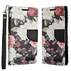 ECLIPSE Hybrid PU Leather Design Flip Cover Case Wallet with Credit Card Slots for ZTE Tempo X N9137 / ZTE Avid 4 - Floral Pattern with Roses