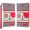 ECLIPSE Hybrid PU Leather Design Flip Cover Case Wallet with Credit Card Slots for ZTE Tempo X N9137 / ZTE Avid 4 - Anchor