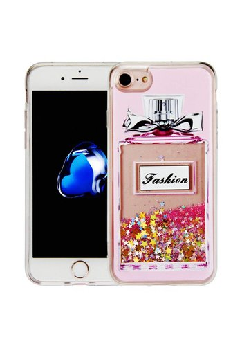 Guardian PC + TPU Liquid Quicksand with Perfume Bottle Case for iPhone 7/8 - Art Milkyway