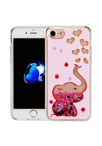 Guardian PC + TPU Liquid Quicksand with Baby Elephant Case for iPhone 7/8 - Art Milkyway