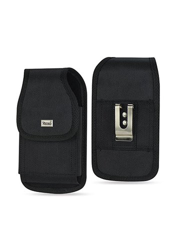 REIKO Vertical Rugged Pouch Velcro Closure (PH02B-663507) For Universal Devices (inside: 6.62 x 3.46 x 0.68 in)