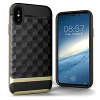 Fashion PC+TPU Gel Slim Armor Diamond Design Case for iPhone X