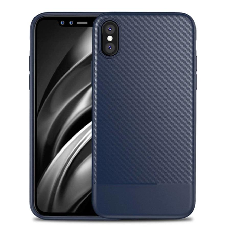 Fashion TPU Gel Carbon Fiber Design Case for iPhone X