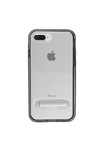 Guardian PC + TPU Clear Case with Solid Edge and Kickstand For iPhone 7/8 Plus - Stand Bumper