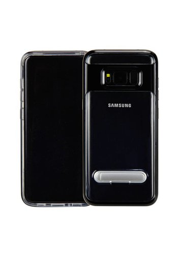 Guardian PC + TPU Clear Case with Solid Edge and Kickstand For Galaxy S8 - Stand Bumper