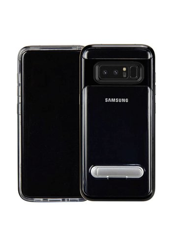 Guardian PC + TPU Clear Case with Solid Edge and Kickstand For Galaxy Note 8 - Stand Bumper