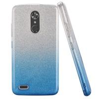 Gradient Two Tone Glitter Paper TPU Gel Case For ZTE MAX XL N9560