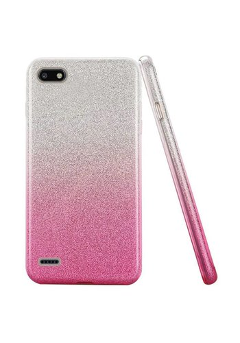 Gradient Two Tone Glitter Paper TPU Gel Case For ZTE Blade Force N9517