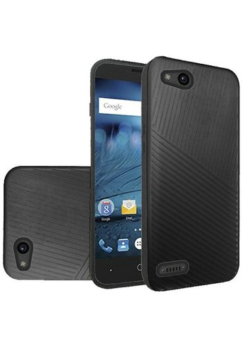 Textured Embossed Lines Hard Plastic PC TPU Case For ZTE Tempo X N9137 / ZTE Avid 4