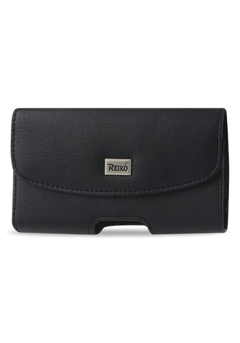 Reiko Horizontal Leather Magnetic Pouch (HP102B-352111) For Universal Devices (Inside: 3.50 x 2.05 x 1.10 in)
