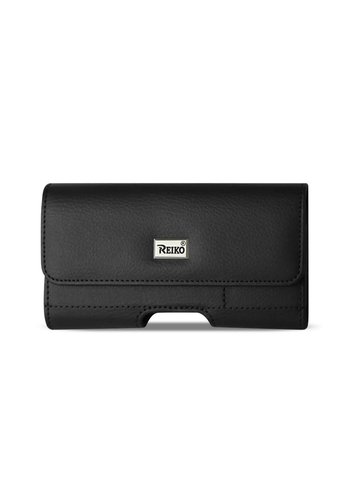 REIKO Horizontal Leather Pouch (HP500B-583207) For Universal Devices (inside: 5.78 x 3.25 x 0.71 in)