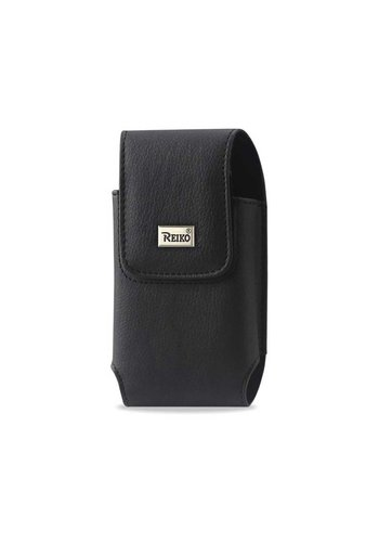 REIKO Vertical Rugged Pouch Magnetic Closure (VP06B-SBK) For Universal Devices (inside: 3.55 x 1.75 x 0.92 in)